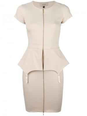 Платье Fold Murmur. Цвет: телесный
