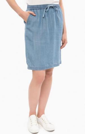 Синяя джинсовая юбка Gant. Цвет: синий