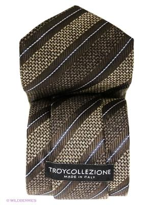 Галстук Troy collezione. Цвет: темно-бежевый, темно-коричневый