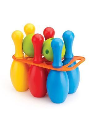 Большой набор боулинг из 6 кеглей и 2 шаров Dolu.. Цвет: синий, желтый, красный