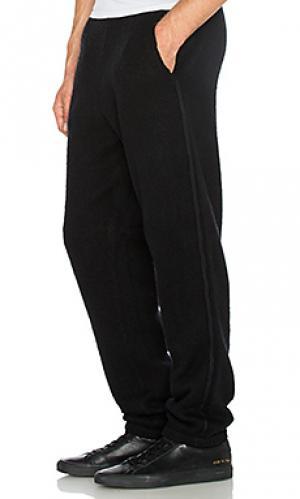 Спортивные брюки из людена T by Alexander Wang. Цвет: черный