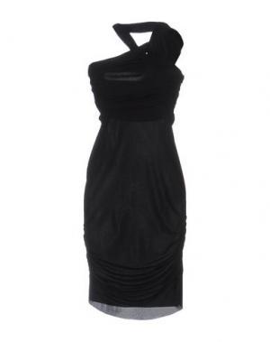 Короткое платье PINKO UNIQUENESS. Цвет: черный