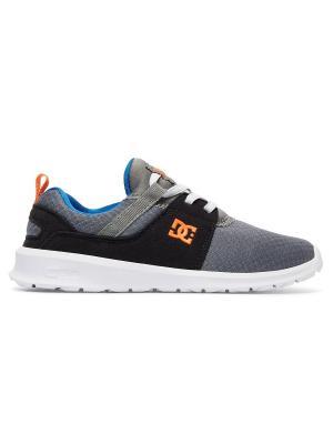 Кроссовки DC Shoes. Цвет: черный, оранжевый, серый