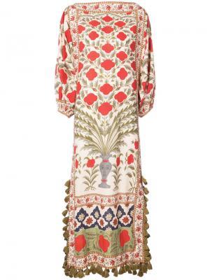Платье с цветочными мотивами Rhode Resort. Цвет: многоцветный