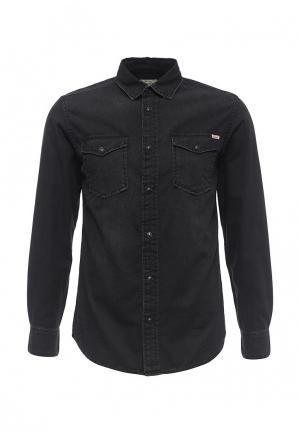 Рубашка джинсовая Jack & Jones. Цвет: черный