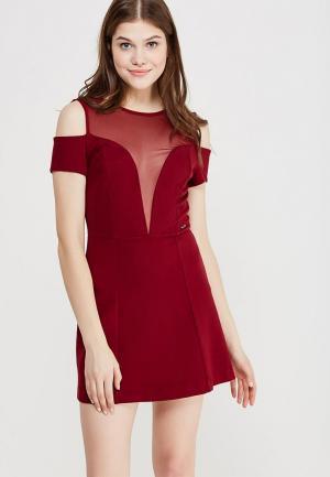 Платье Koralline. Цвет: бордовый