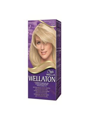Крем-краска для волос осветляющая 12/1 Яркий пепельный блондин WELLATON. Цвет: светло-серый