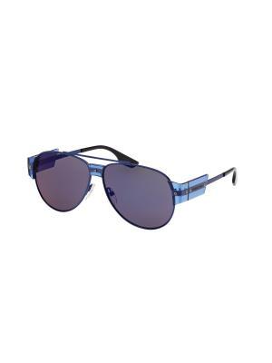 Солнцезащитные очки McQueen. Цвет: синий