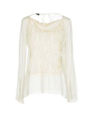 Блузка JO NO FUI. Цвет: белый