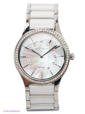 Часы KAREN MILLEN. Цвет: белый, серебристый