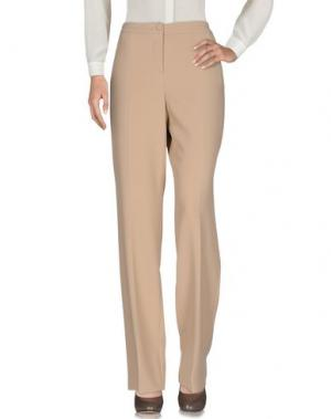 Повседневные брюки MARIA GRAZIA SEVERI. Цвет: бежевый