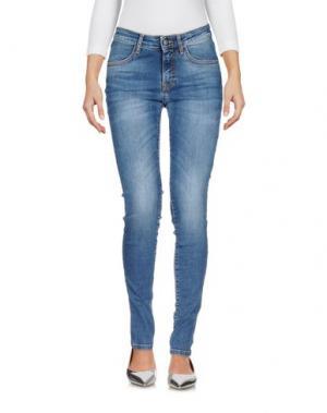 Джинсовые брюки BONHEUR. Цвет: синий