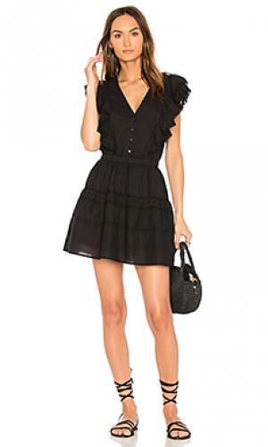 Платье sylvie LoveShackFancy. Цвет: черный