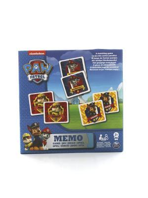 Игра Spinmaster мемори Щенячий Патруль, 48 карточек SPIN MASTER. Цвет: синий