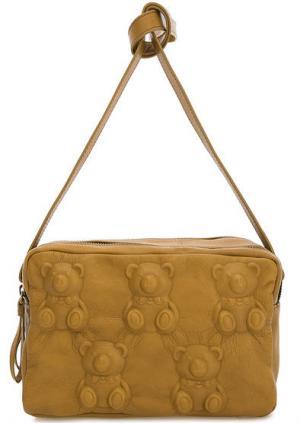 Маленькая кожаная сумка с двумя отделами Io Pelle. Цвет: желтый