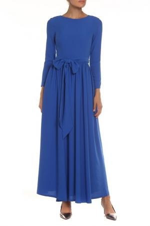 Платье-макси NATALIA PICARIELLO. Цвет: синий