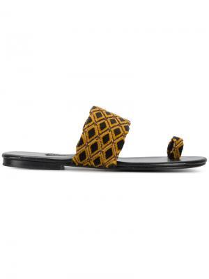 Текстильные сандалии Roma V Newbark. Цвет: коричневый