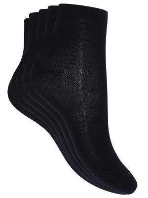 Носки, 5 пар Oodji. Цвет: черный, белый