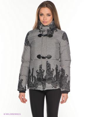 Куртка Desigual. Цвет: серый, черный