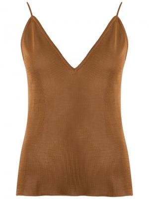 Knitted top Gig. Цвет: коричневый