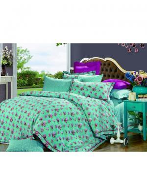 Комплект постельного белья ROMEO AND JULIET. Цвет: бирюзовый, светло-коралловый