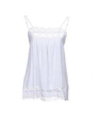 Топ без рукавов CARLA G.. Цвет: белый