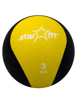 Медбол STAR FIT Pro GB-702, 3 кг, желтый Starfit. Цвет: желтый