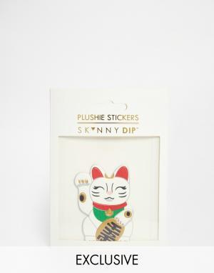 Skinnydip Наклейка в виде кошки. Цвет: мульти
