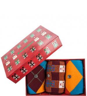 Комплект из трех пар носков в подарочной коробке Burlington. Цвет: мультиколор