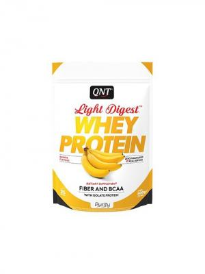 Протеин Light Digest Whey Protein (банан) 500 гр QNT. Цвет: белый