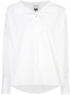 Рубашка с пуговичной планкой сзади Edward Achour Paris. Цвет: белый