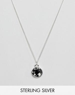 ASOS Серебряное ожерелье с круглой подвеской. Цвет: серебряный