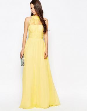 Key Collections Платье макси Ashley Roberts специально для. Цвет: желтый