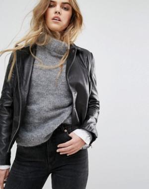 Muubaa Кожаная байкерская куртка Chello. Цвет: черный