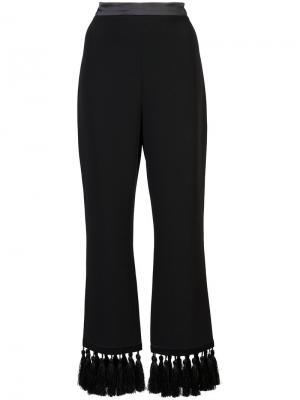 Укороченные брюки с кисточками Cinq A Sept. Цвет: чёрный