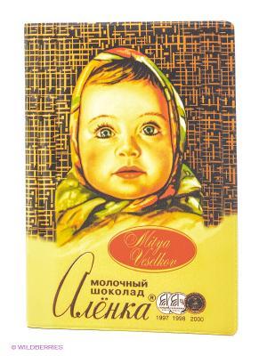 Обложка для паспорта Шоколадка Аленка Mitya Veselkov. Цвет: желтый, коричневый, красный