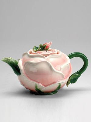 Заварочный чайник Роза Pavone. Цвет: бледно-розовый