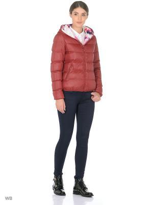 Куртка RISSKIO. Цвет: темно-красный