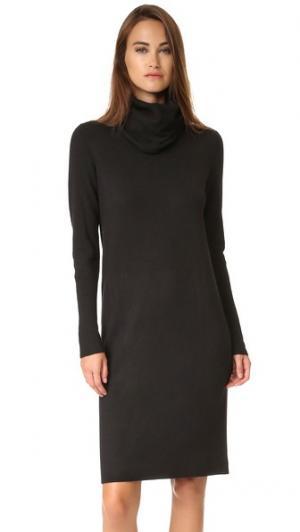 Платье-свитер с воротником-хомутом Pure DKNY. Цвет: голубой