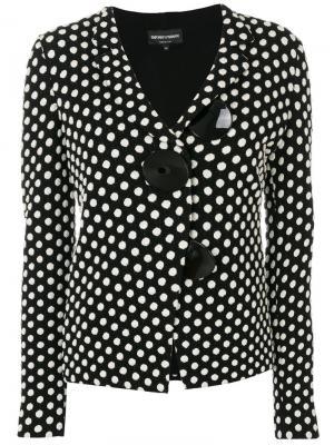 Пиджак в горошек с большими пуговицами Emporio Armani. Цвет: none