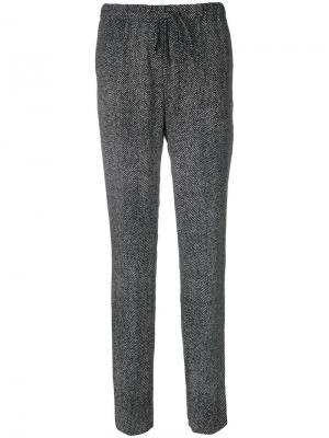 Зауженные брюки со шнурком Jil Sander. Цвет: чёрный