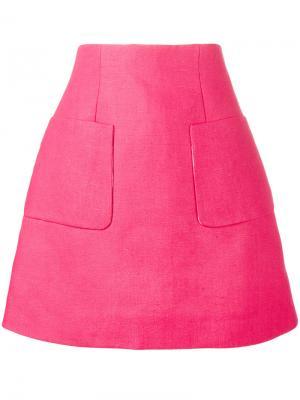 A-line Mini Skirt Delpozo. Цвет: розовый и фиолетовый