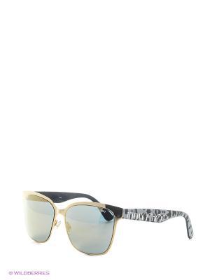 Солнцезащитные очки JIMMY CHOO. Цвет: серый, золотистый