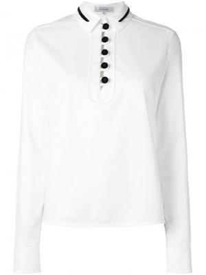 Блузка с контрастными пуговицами Carven. Цвет: белый