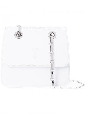 Классическая сумка на плечо Mark Cross. Цвет: белый