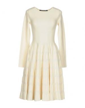 Короткое платье ANTONINO VALENTI. Цвет: бежевый