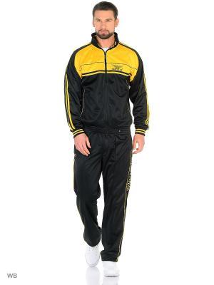 Спортивный костюм Montana. Цвет: черный, желтый