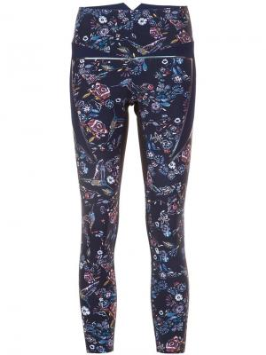 Floral print leggings Lucas Hugh. Цвет: синий