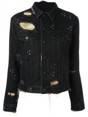 Джинсовая куртка Filles A Papa. Цвет: чёрный