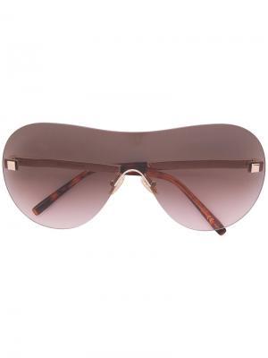 Солнцезащитные очки в объемной оправе Boucheron. Цвет: металлический